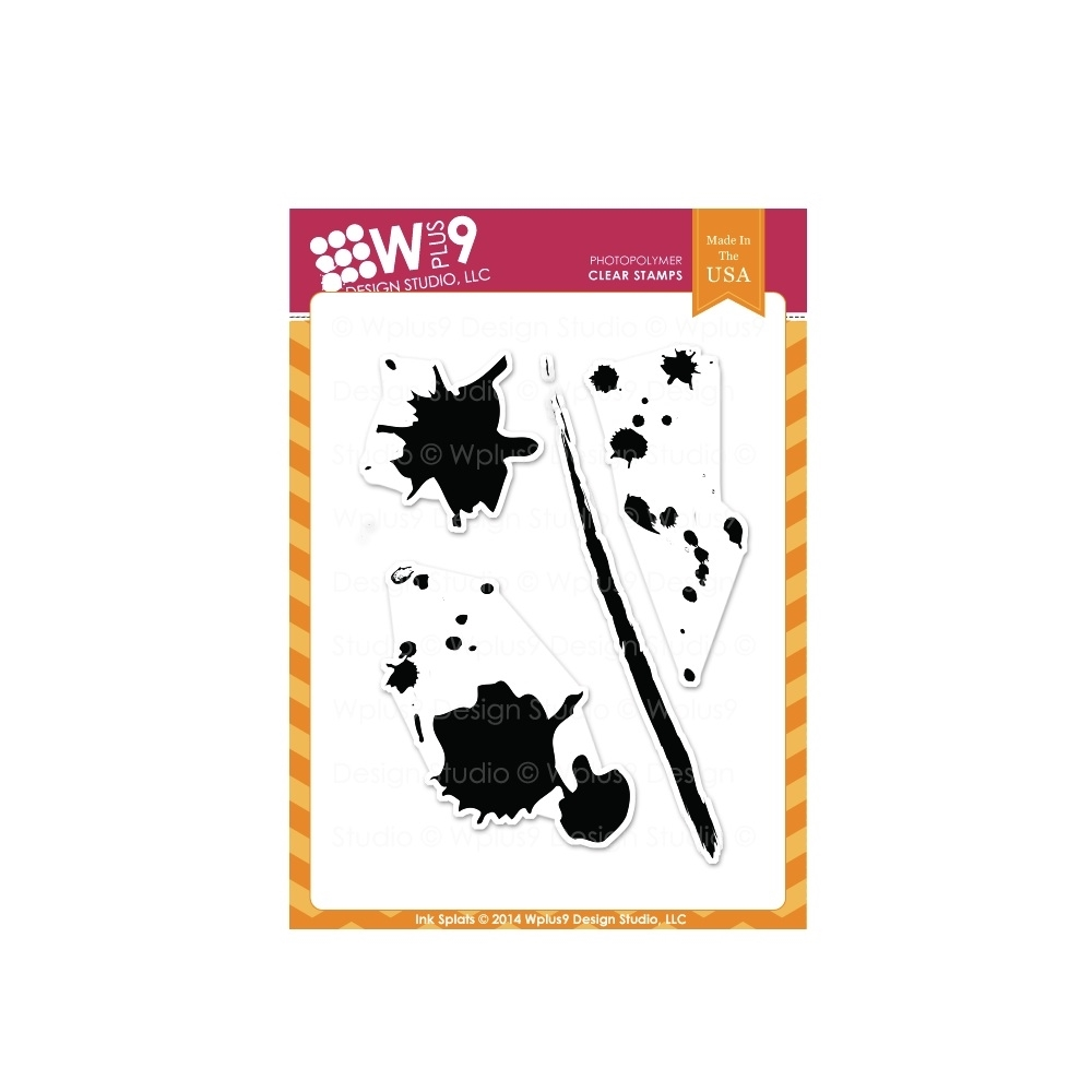 Wplus9 INK SPLATS Clear Stamps CL-WP9IS zoom image
