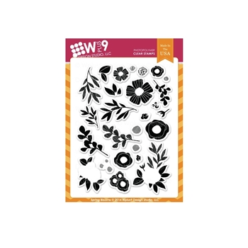 Wplus9 SPRING BLOOMS Clear Stamps CL-WP9SPBL