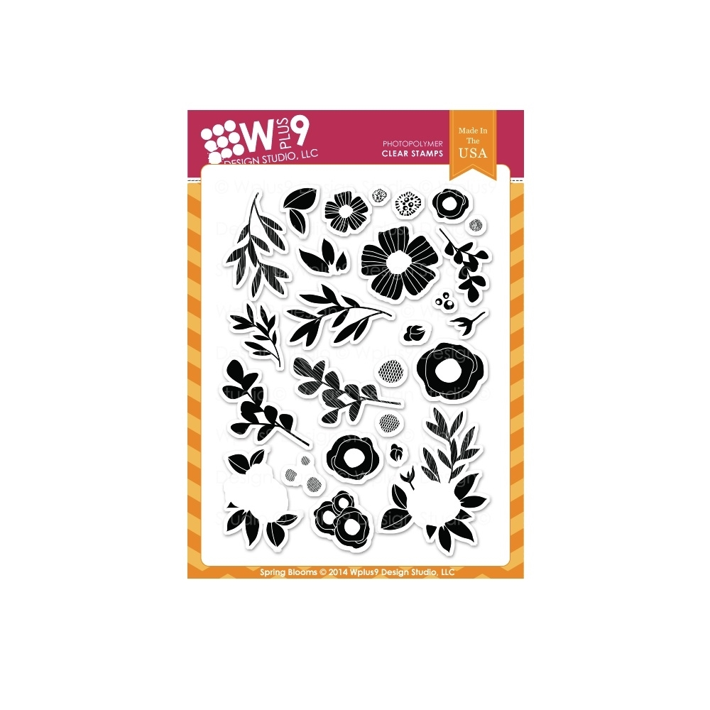 Wplus9 SPRING BLOOMS Clear Stamps CL-WP9SPBL zoom image