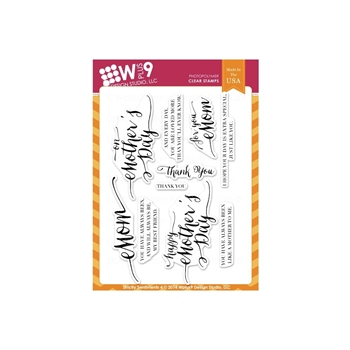Wplus9 STRICTLY SENTIMENTS 4 Clear Stamps CL-WP9SS4