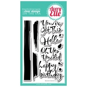 Avery Elle Clear Stamps BRUSHED Set ST-14-11 or 021334