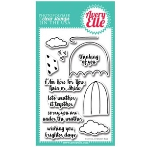Avery Elle Clear Stamps WEATHER IT Set ST-14-08 or 021297 zoom image
