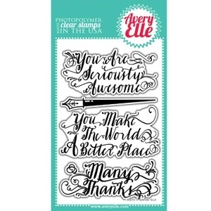 Avery Elle Clear Stamps WRITE IT  Set ST-14-09 or 021303*
