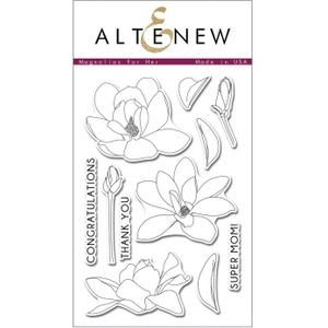 Altenew MAGNOLIAS FOR HER Clear Stamp Set AN101 Preview Image