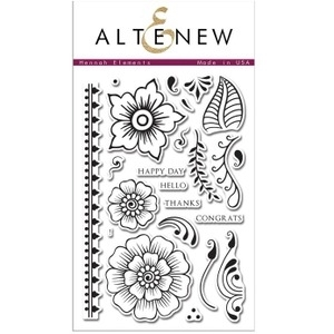 Altenew HENNAH ELEMENTS Clear Stamp Set AN102