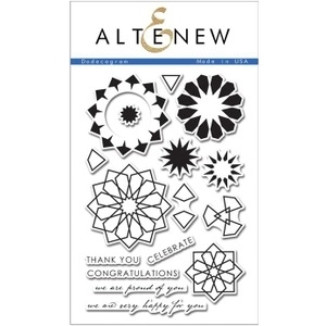 Altenew DODECAGRAM Clear Stamp Set ALT1044*