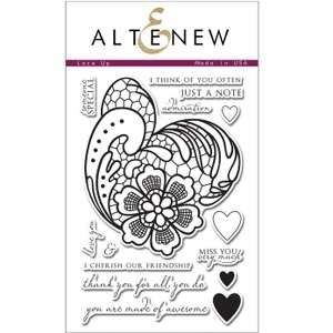 Altenew LACE UP Clear Stamp Set AN104