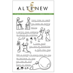 Altenew FIGURE EFFECTS Clear Stamp Set ALT1068