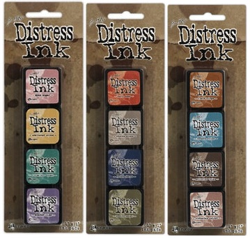 Tim Holtz MINI DISTRESS INK PADS SETS 4 5 AND 6 Ranger DMIPSX456 zoom image