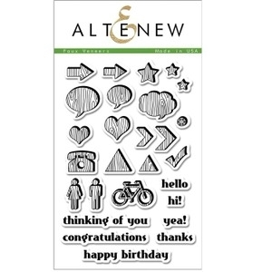 Altenew FAUX VENEERS Clear Stamp Set AN107