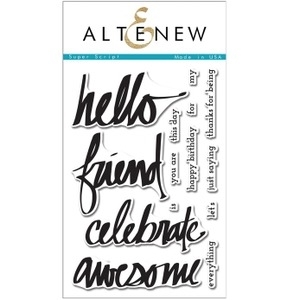 Altenew SUPER SCRIPT Clear Stamp Set AN109