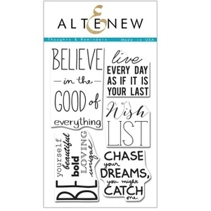 Altenew THOUGHTS & REMINDERS Clear Stamp Set AN111