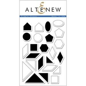 Altenew SIMPLE SHAPES Clear Stamp Set ALT1046 zoom image