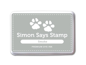 Simon Says Stamp Premium Dye Ink Pad SMOKE Gray Ink026