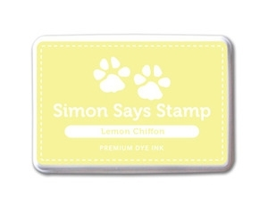 Simon Says Stamp Premium Dye Ink Pad LEMON CHIFFON Yellow Ink023 Preview Image