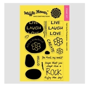 Waffle Flower ROCK MY WORLD Clear Stamp Set WFS102 or 271003