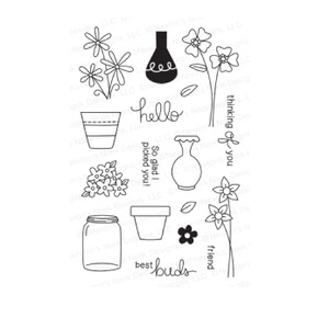 Newton's Nook Designs VERSATILE VASES Clear Stamp Set 20140402