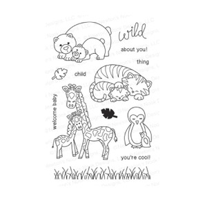 Newton's Nook Designs WILD CHILD Clear Stamp Set 20140403