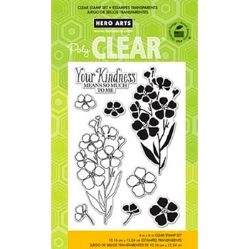HERO ARTS CLEAR STAMPS NIGHT AND DAY FLOWERS CL779