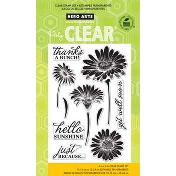 HERO ARTS CLEAR STAMPS HELLO SUNSHINE DAISIES CL776