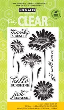 HERO ARTS CLEAR STAMPS HELLO SUNSHINE DAISIES CL776  zoom image