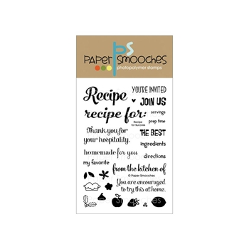 Paper Smooches RECIPE FOR SUCCESS Clear Stamps