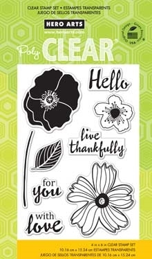 HERO ARTS CLEAR STAMPS HELLO FLOWERS CL774  zoom image