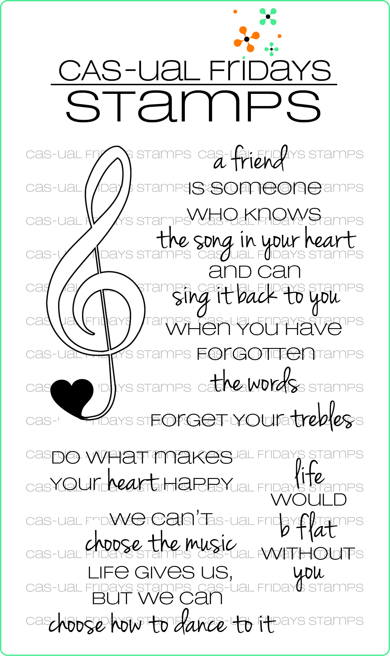 CAS-ual Fridays BIG TREBLE Clear Stamps CFSS14004 Preview Image