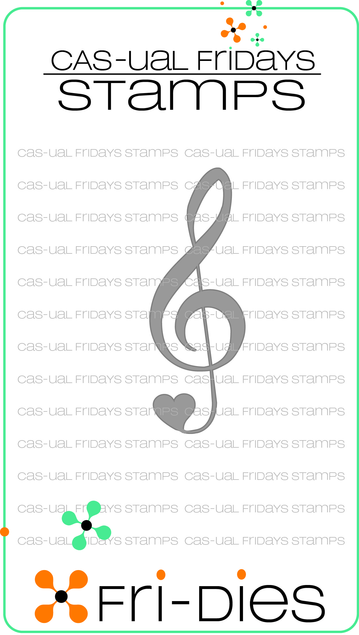 CAS-ual Fridays TREBLE CLEF Fri-Dies cfd14105 Preview Image