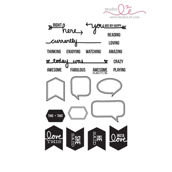 Studio L2E CRAZY AWESOME LIFE Clear Stamp Set
