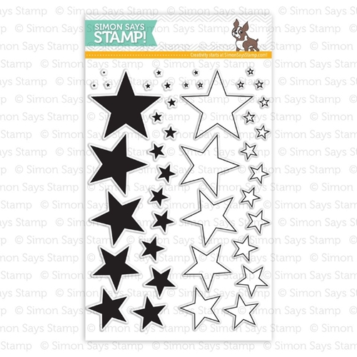 Simon Says Clear Stamps LOTS OF STARS sss101404 Pure Sunshine Preview Image
