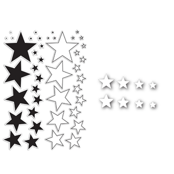 Simon Says Die and Stamps Set MY STARS SetMS84 Pure Sunshine