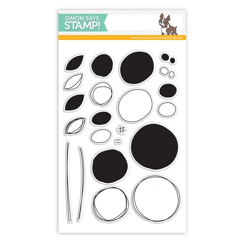 Simon Says Clear Stamps SCRIBBLE FLOWERS sss101400 Pure Sunshine Preview Image