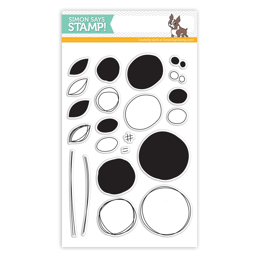 Simon Says Clear Stamps SCRIBBLE FLOWERS sss101400 Pure Sunshine zoom image