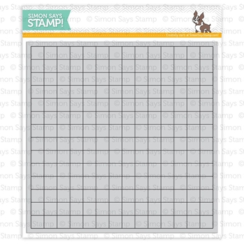 Simon Says Cling Rubber Stamp GRID BACKGROUND sss101408 Pure Sunshine