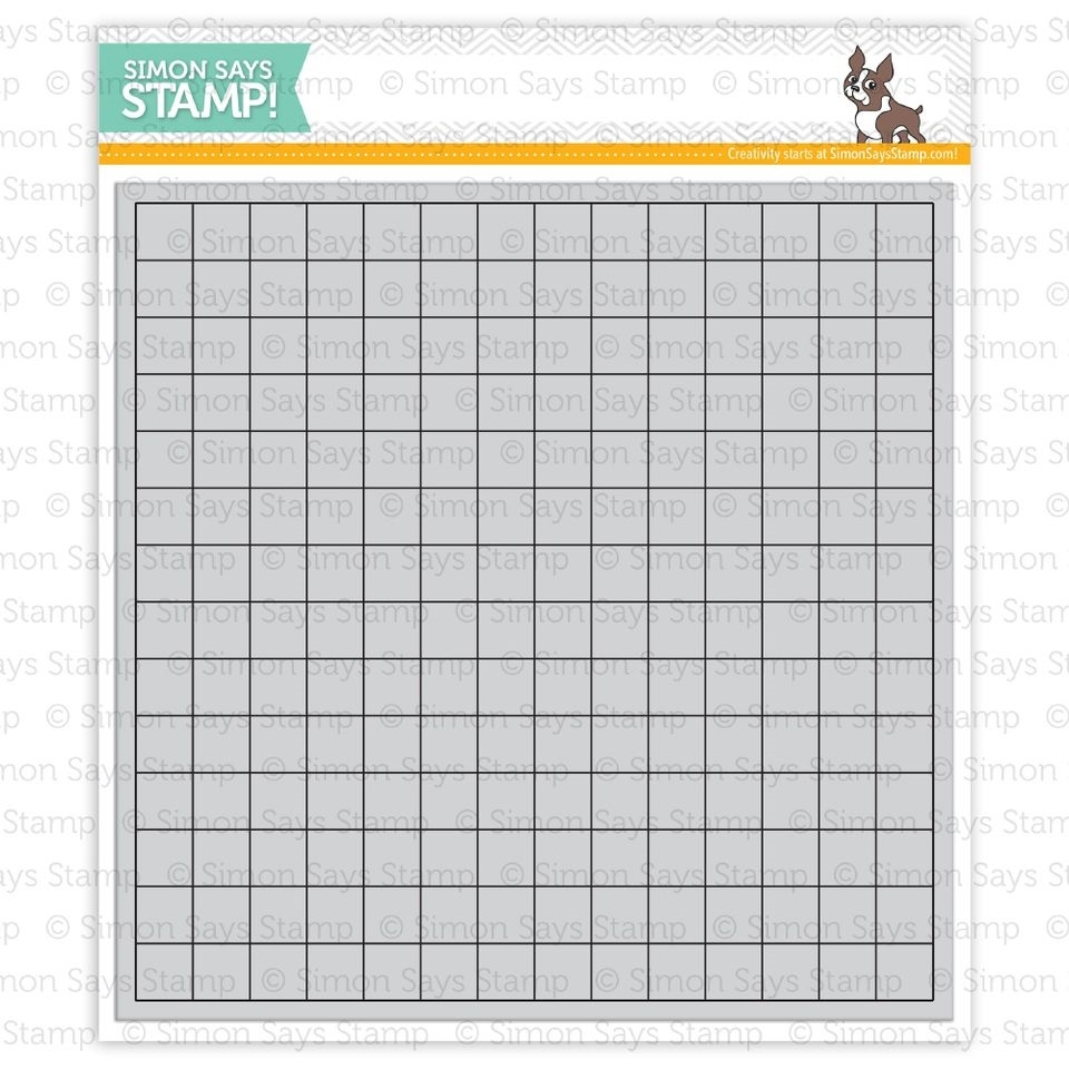 Simon Says Cling Rubber Stamp GRID BACKGROUND sss101408 Pure Sunshine zoom image