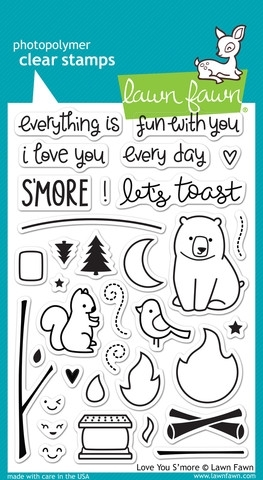 Lawn Fawn LOVE YOU SMORE Clear Stamps LF671 zoom image