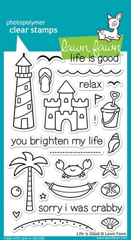 Lawn Fawn LIFE IS GOOD Clear Stamps LF680 Preview Image