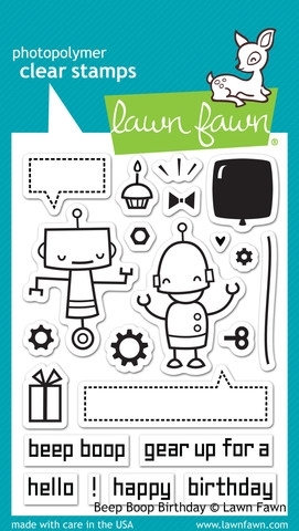 Lawn Fawn BEEP BOOP BIRTHDAY Clear Stamps LF676 zoom image