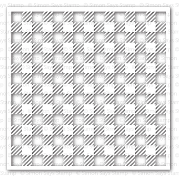 Simon Says Stamp Stencil GINGHAM SSST121343 Pure Sunshine