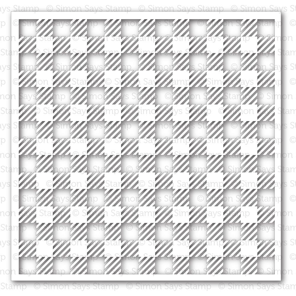 Simon Says Stamp Stencil GINGHAM SSST121343 Pure Sunshine zoom image