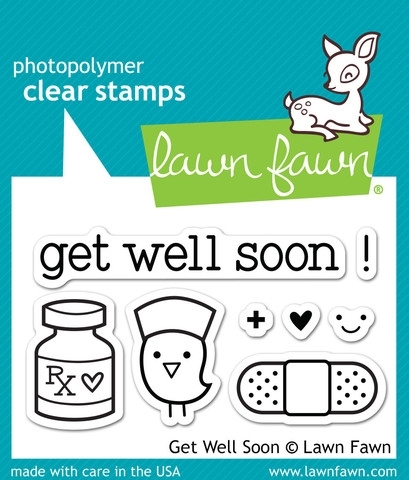 Lawn Fawn GET WELL SOON Clear Stamps LF682 Preview Image