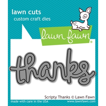 Lawn Fawn SCRIPTY THANKS Lawn Cuts Die LF690