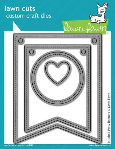 Lawn Fawn Stitched Party Banners Die Set