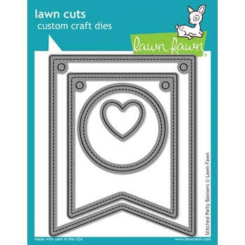Lawn Fawn STITCHED PARTY BANNERS Lawn Cuts Dies LF687