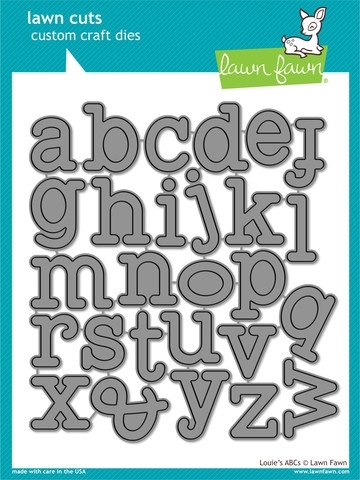 Lawn Fawn Louie's ABC's Lower Case Alphabet Die Set