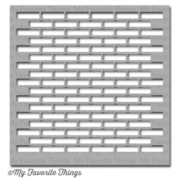My Favorite Things SMALL BRICK WALL Mix-ables Stencil MFT zoom image