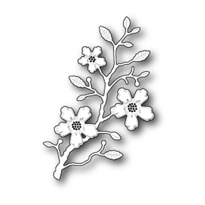 Memory Box BLUSHING FLOWER BRANCH Craft Die 98980 Preview Image