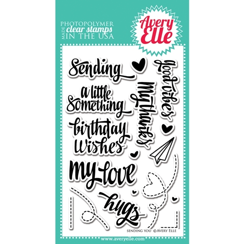 Avery Elle Clear Stamps SENDING YOU Set ST-14-15 or 021426 Preview Image
