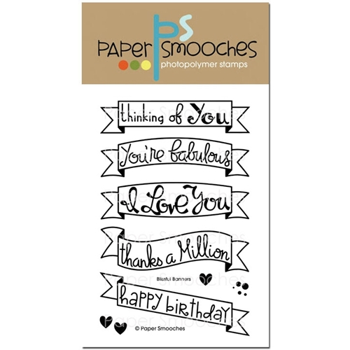 Paper Smooches BLISSFUL BANNERS Clear Stamps Preview Image